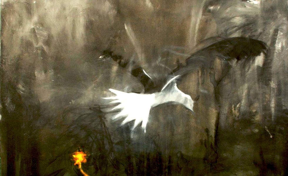 Bird image - painting by Arvindh Baburam (detail)