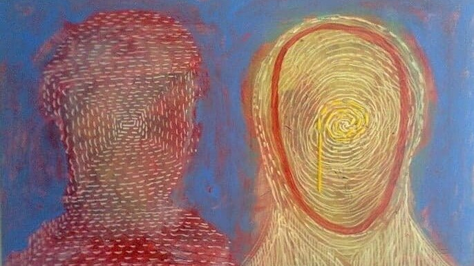 two figures, image - Artist: Daniel Balanescu